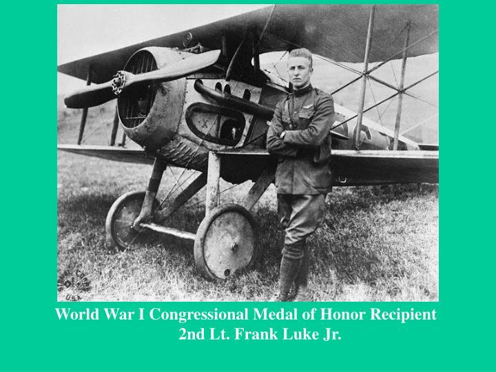 World War I Congressional Medal of Honor Recipient