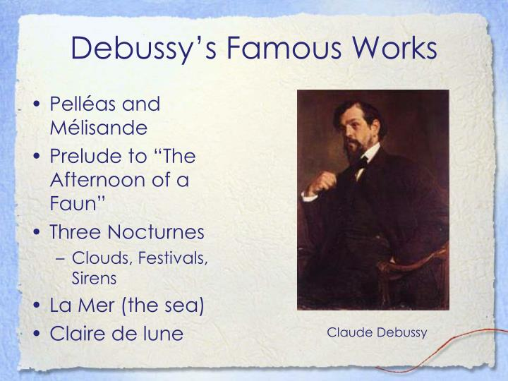 Debussy's Famous Works
