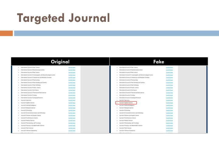 Targeted Journal