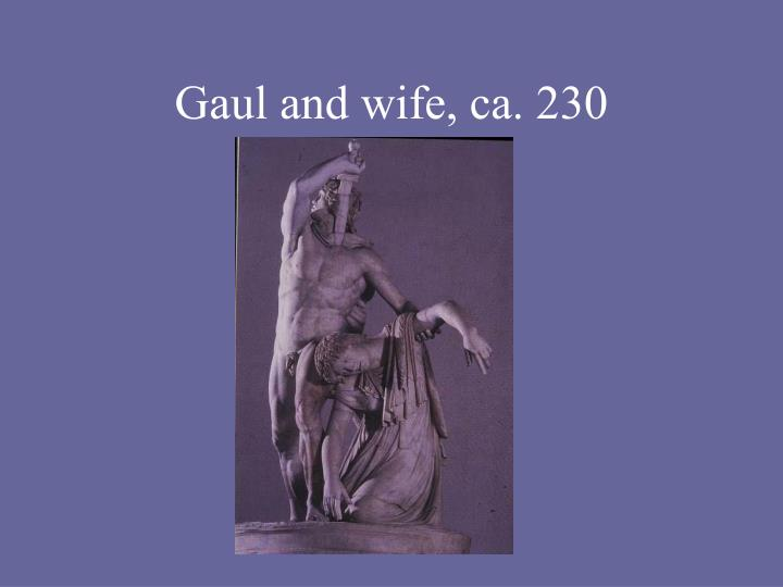 Gaul and wife, ca. 230