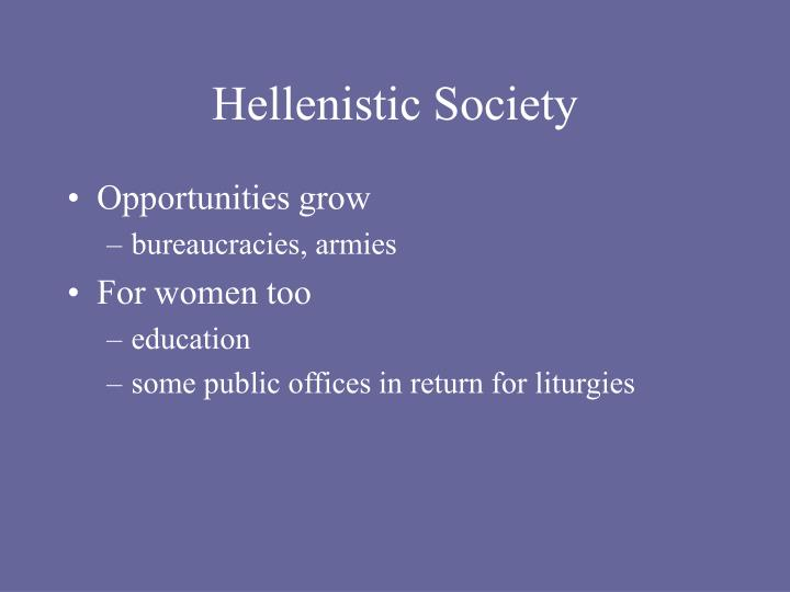 Hellenistic society