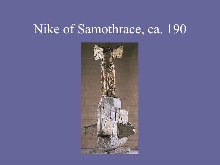 Nike of Samothrace, ca. 190