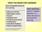 frees the brain for learning