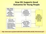 how sel supports good outcomes for young people