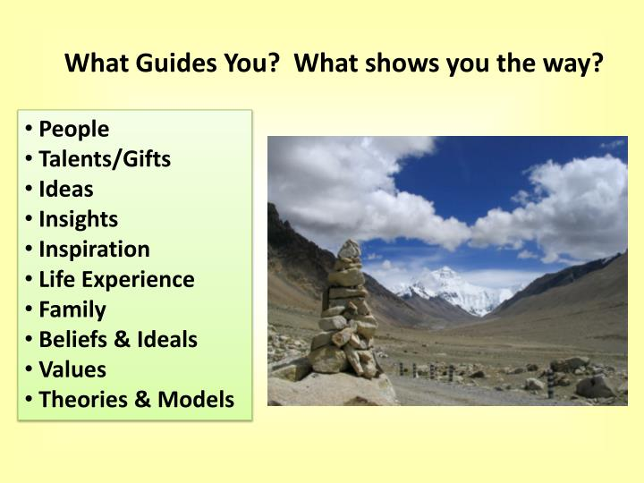 What Guides You?  What shows you the way?