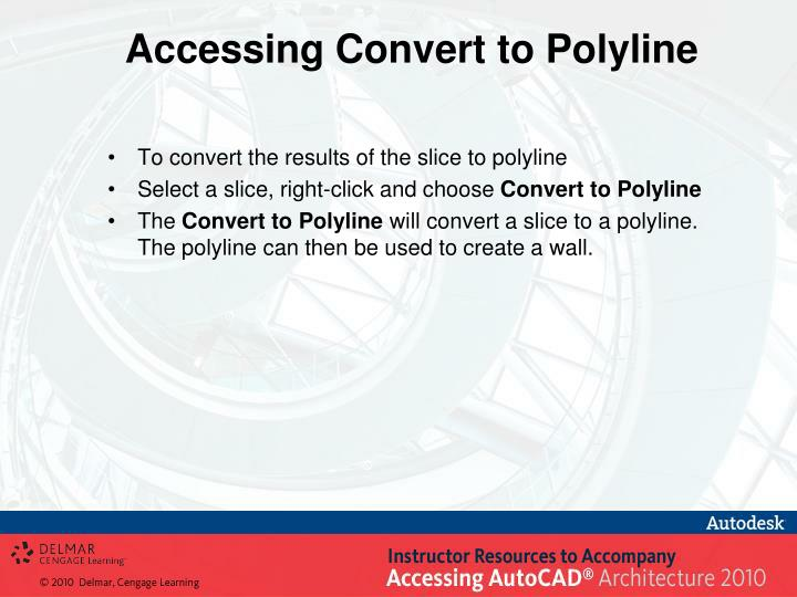 Accessing Convert to Polyline