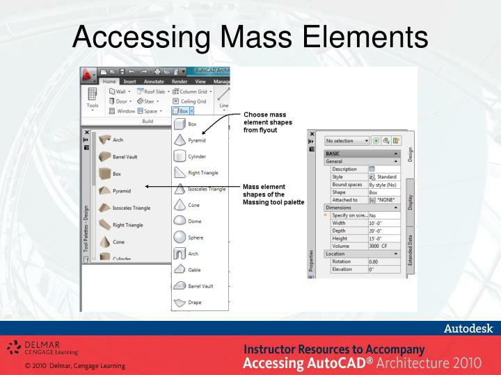 Accessing Mass Elements