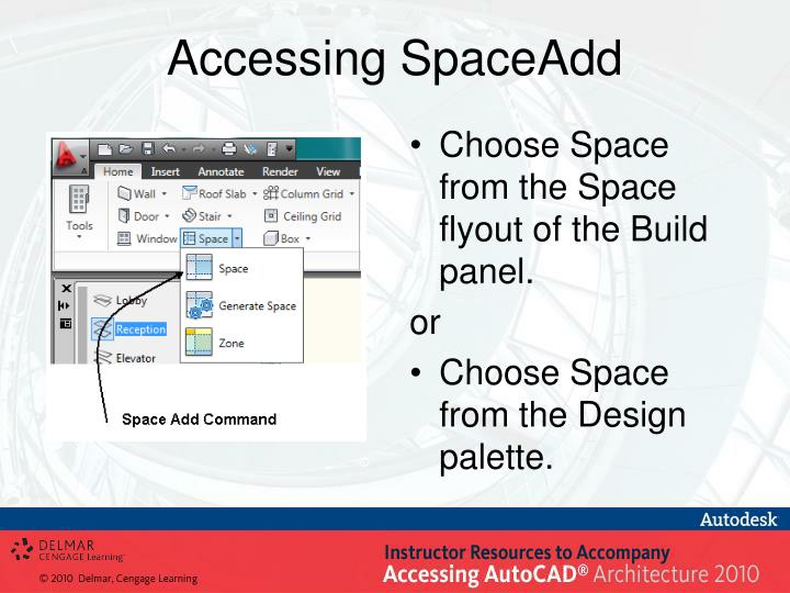 Accessing SpaceAdd