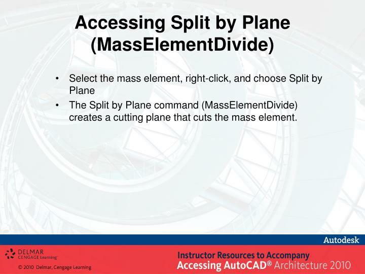 Accessing Split by Plane
