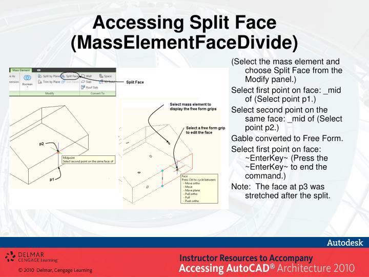 Accessing Split Face