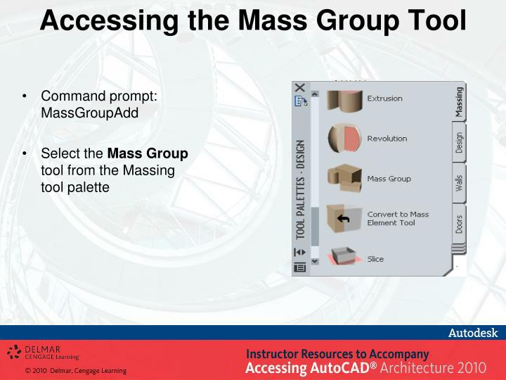 Accessing the Mass Group Tool