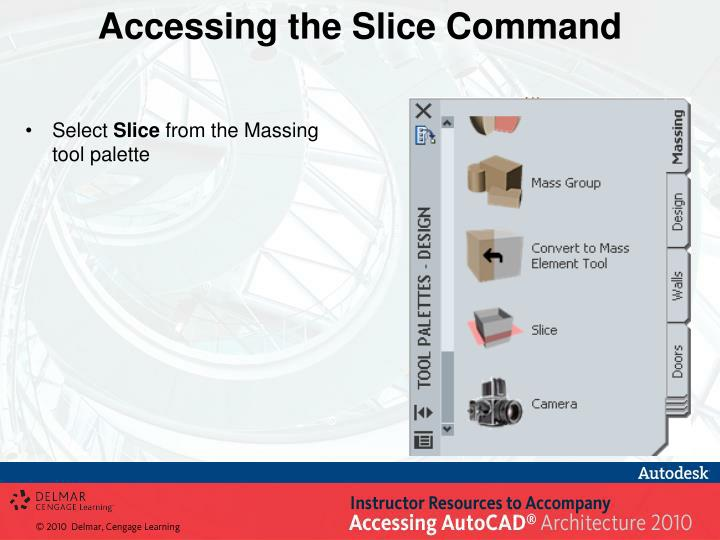 Accessing the Slice Command