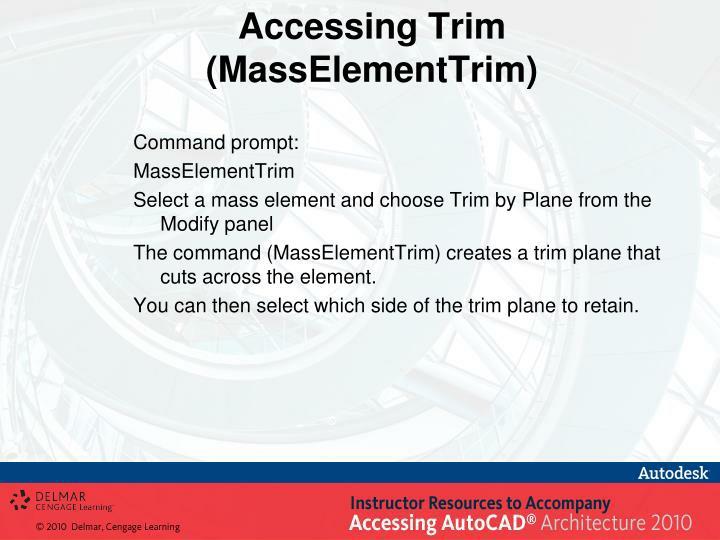 Accessing Trim (MassElementTrim)