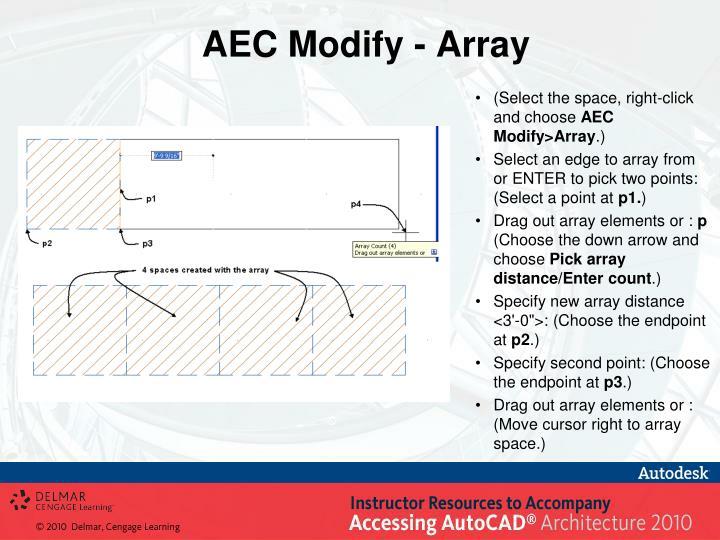 AEC Modify - Array