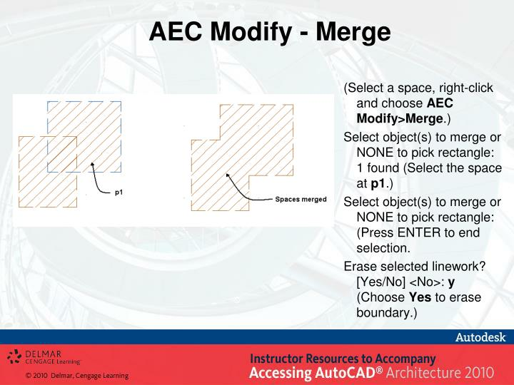 AEC Modify - Merge
