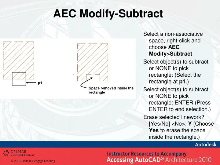 AEC Modify-Subtract