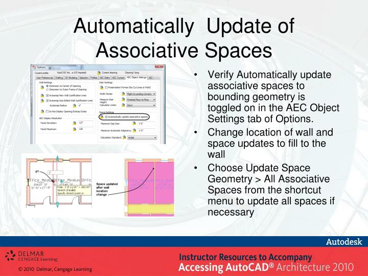 Automatically  Update of Associative Spaces