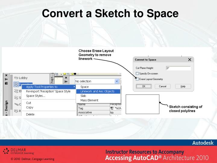 Convert a Sketch to Space