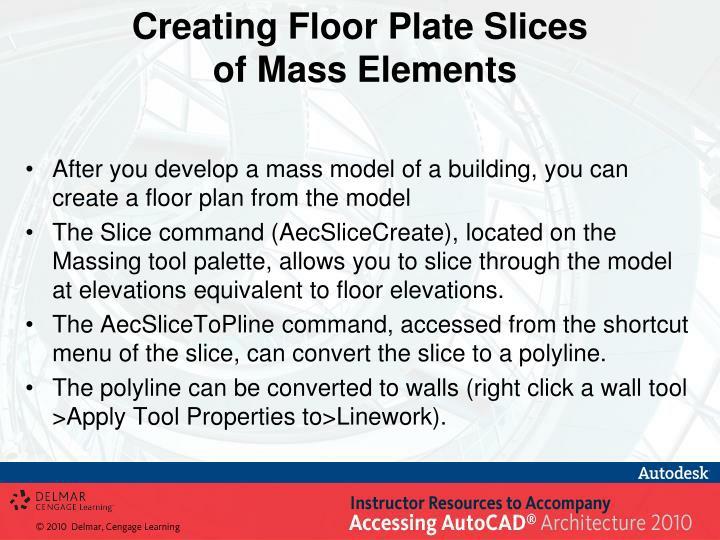 Creating Floor Plate Slices