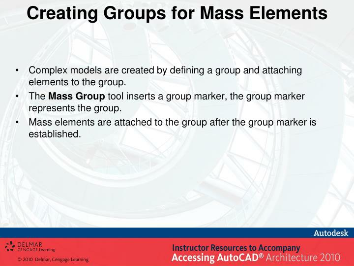 Creating Groups for Mass Elements