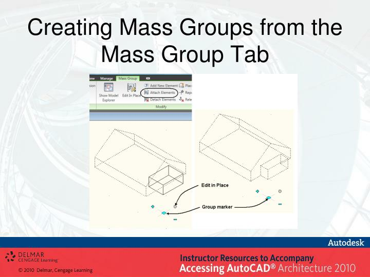 Creating Mass Groups from the Mass Group Tab