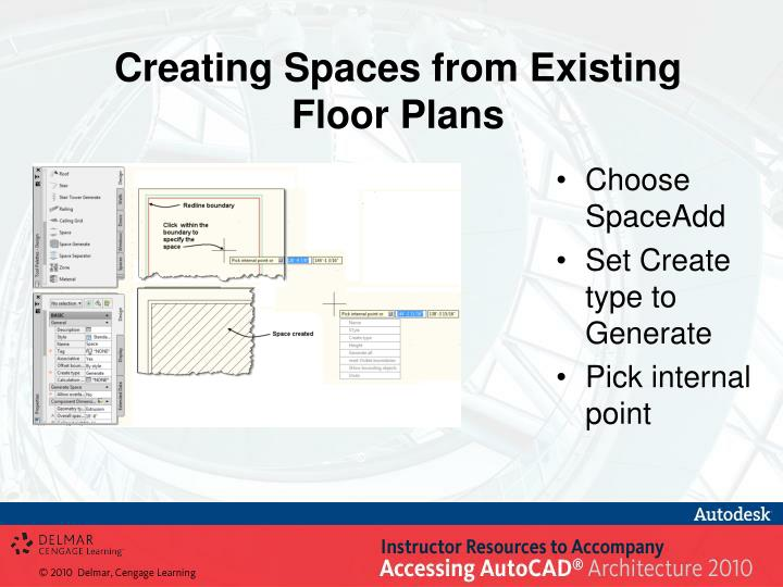 Creating Spaces from Existing Floor Plans