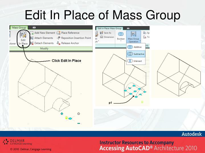 Edit In Place of Mass Group