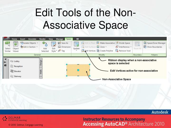 Edit Tools of the Non-Associative Space