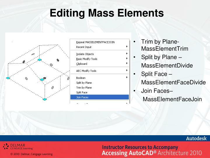 Editing Mass Elements