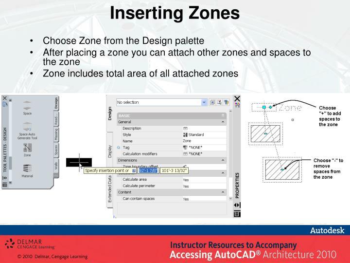 Inserting Zones
