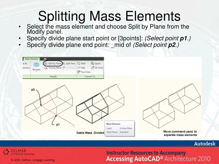 Splitting Mass Elements