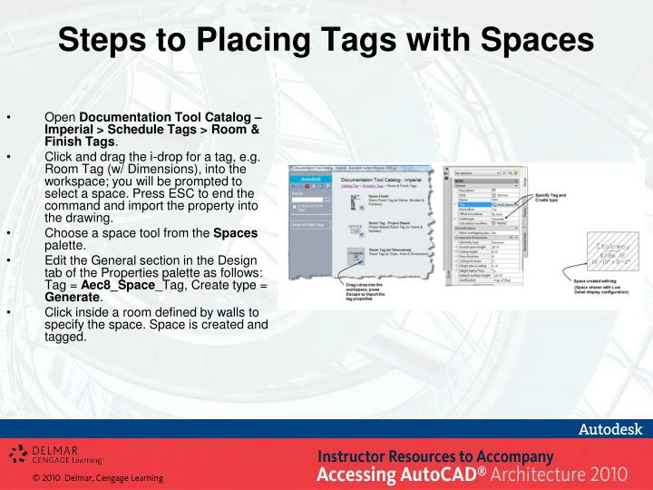 Steps to Placing Tags with Spaces