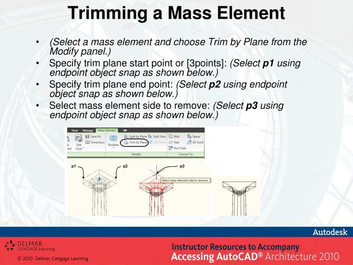 Trimming a Mass Element