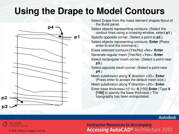 Using the Drape to Model Contours