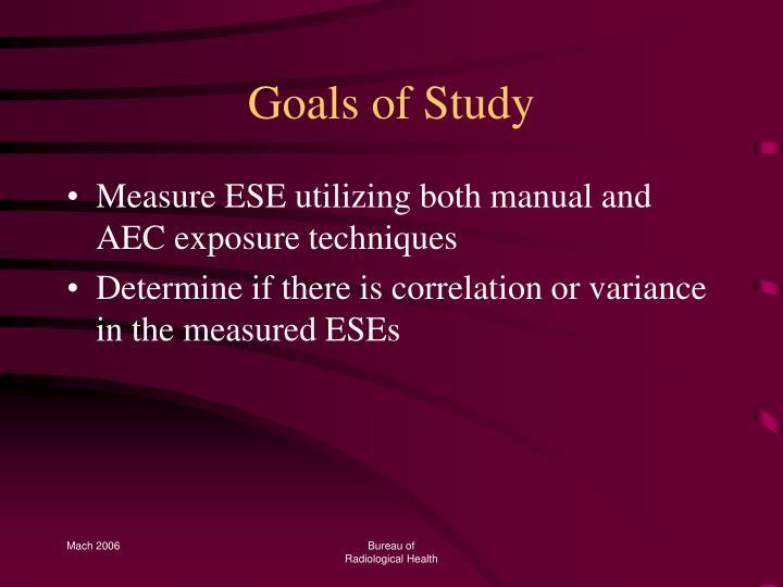 Goals of Study