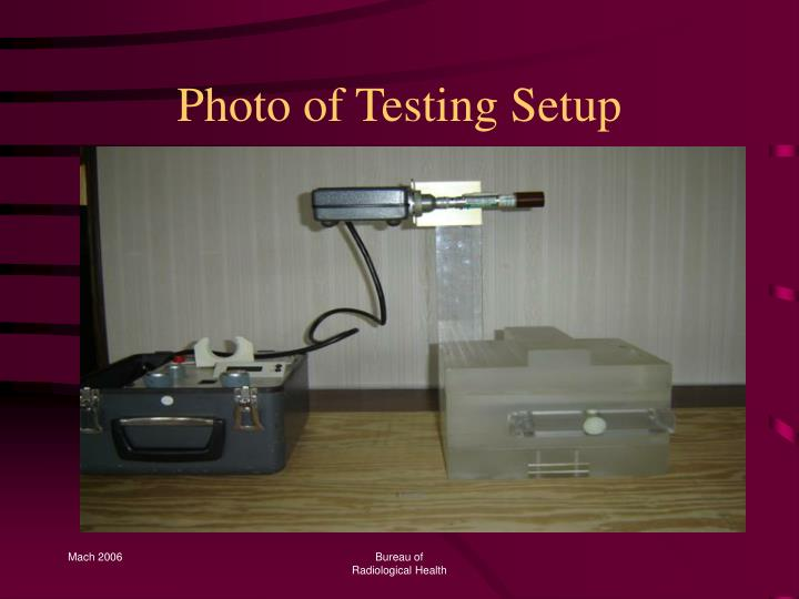Photo of Testing Setup