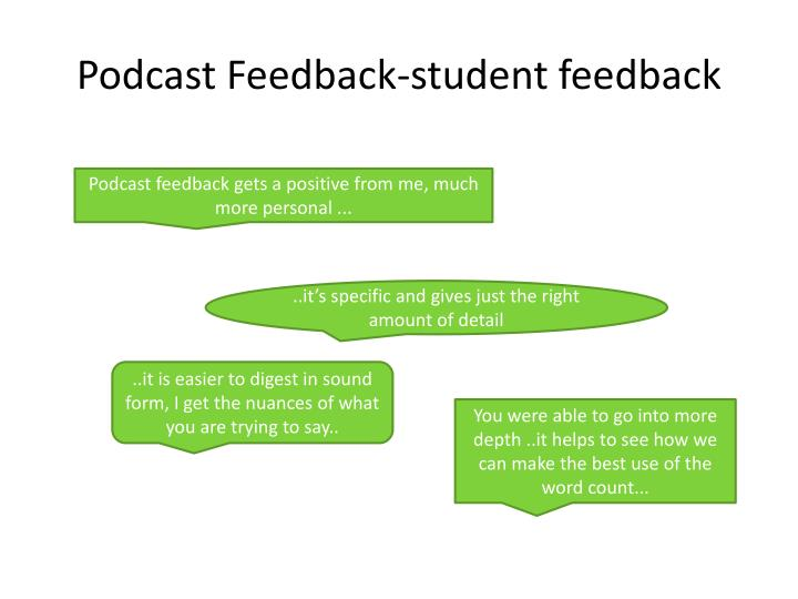 Podcast Feedback-student feedback