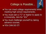 college is possible