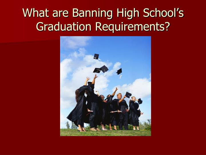 What are Banning High School's Graduation Requirements?