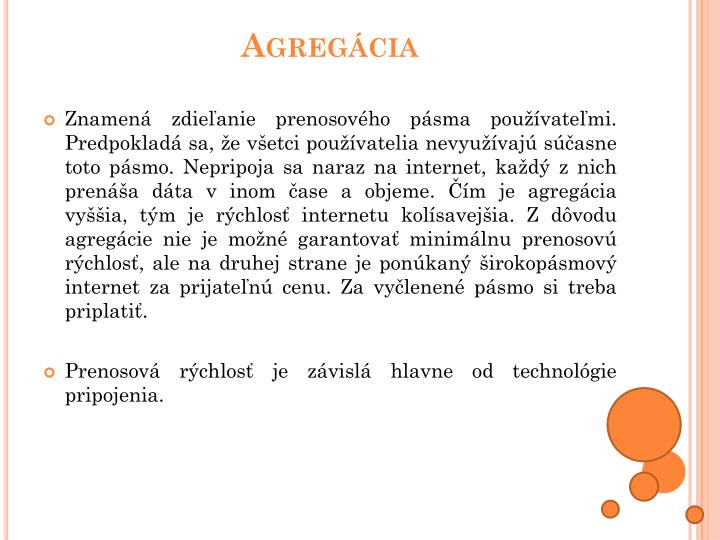 Agregácia