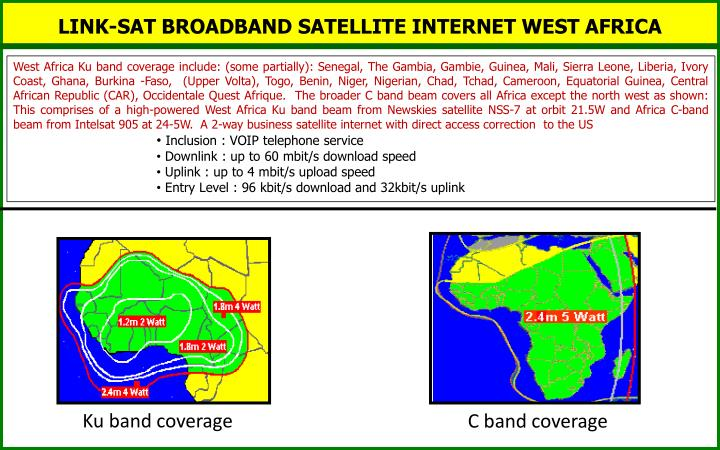 LINK-SAT BROADBAND SATELLITE INTERNET WEST AFRICA
