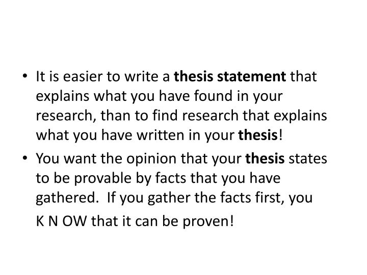 thesis statement more than one sentence