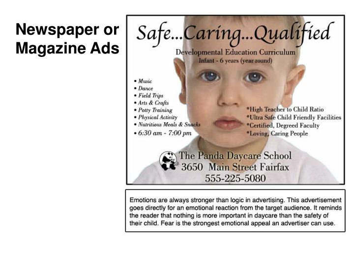 Newspaper or Magazine Ads