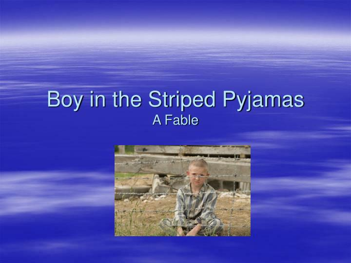 the boy in the striped pyjamas essay conclusion Title- boy in the striped pyjamas author- john boyne text type- novel date- 13 february 2013 one of the main ideas in the novel, boy in the striped pyjamas.