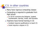 c s in other countries