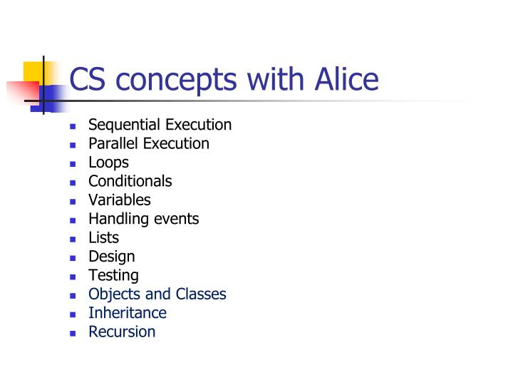 CS concepts with Alice