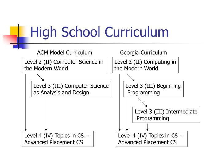 High School Curriculum