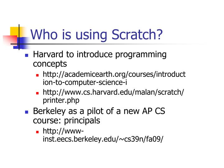 Who is using Scratch?