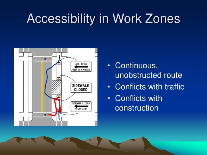Continuous, unobstructed route