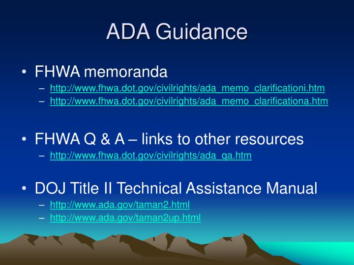 ADA Guidance